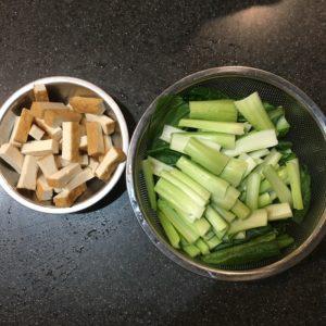 小松菜と厚揚げ