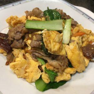 きくらげ卵炒め ムースーロー 木須肉